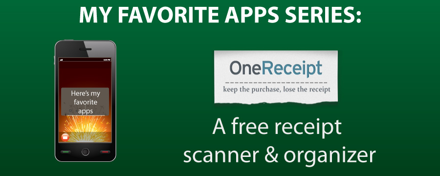 My Favorite Apps: One Receipt