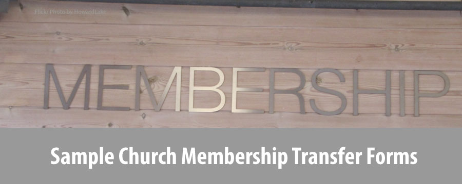 Church Membership Forms: